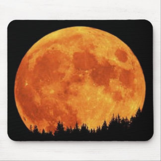 Amazing Neon Moon Mouse Pad