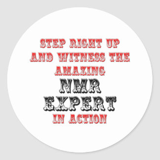 Amazing NMR Expert In Action Round Stickers