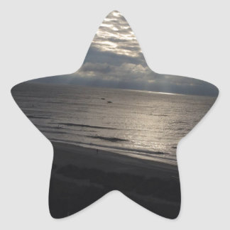 Amazing Ocean and Clouds Star Sticker