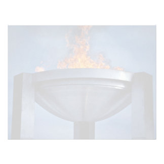Amazing olympic flame customized letterhead