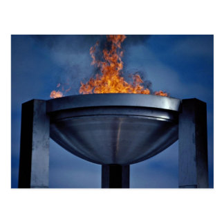Amazing olympic flame postcard