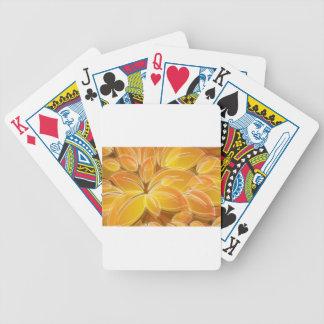 Amazing orange floral elements poker deck