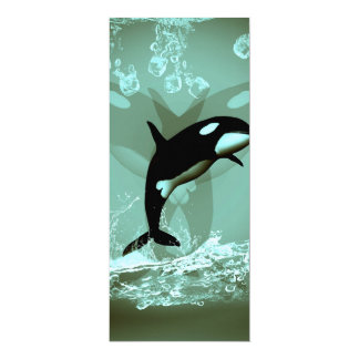 "Amazing Orca 4"" X 9.25"" Invitation Card"