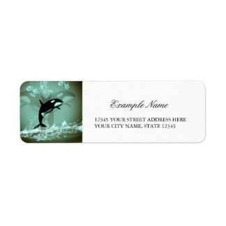 Amazing Orca Return Address Label