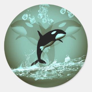 Amazing Orca Round Stickers