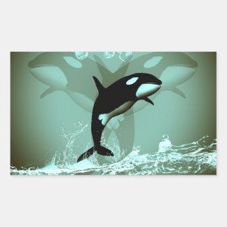 Amazing Orca Rectangular Stickers