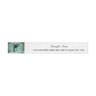 Amazing Orca Wraparound Address Label