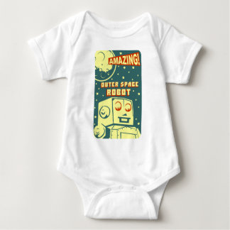 Amazing Outer Space Robot Baby Bodysuit