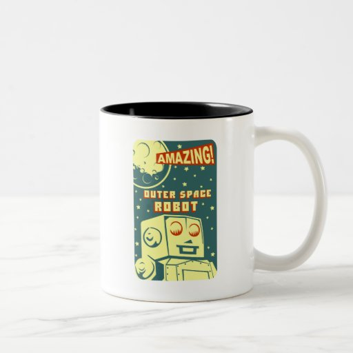 Amazing Outer Space Robot Coffee Mugs Zazzle