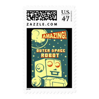 Amazing Outer Space Robot Postage