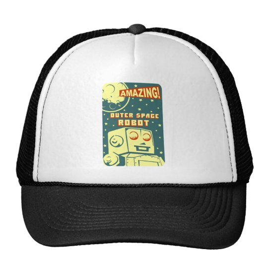 Amazing Outer Space Robot Trucker Hat