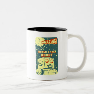 Amazing Outer Space Robot Two-Tone Coffee Mug