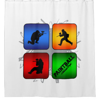 Amazing Paintball Urban Style Shower Curtain