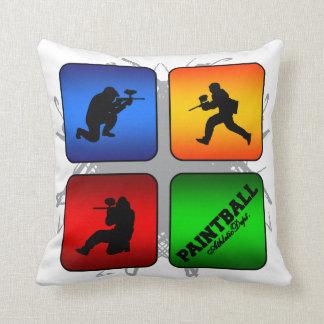 Amazing Paintball Urban Style Throw Pillow