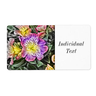 amazing painted flowers label
