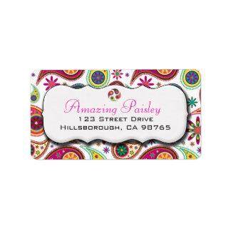 Amazing Paisley Address Label
