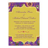 Amazing Paisley in Purple Wedding Invitation (<em>$2.22</em>)