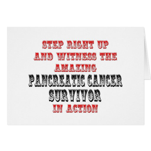 Amazing Pancreatic Cancer Survivor In Action Greeting Card