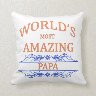 Amazing Papa Throw Pillow