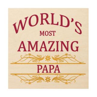 Amazing Papa Wood Wall Art