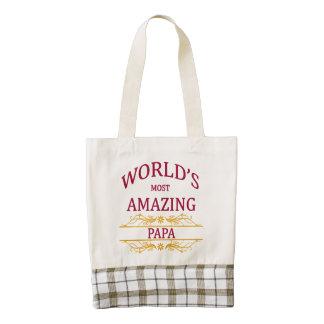Amazing Papa Zazzle HEART Tote Bag