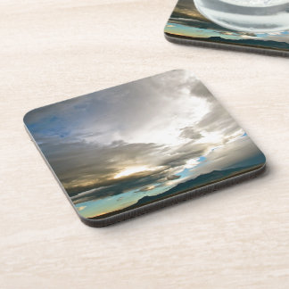 AMAZING PASTEL COLORED SKY AFTER A STORM BEVERAGE COASTER