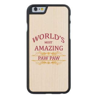 Amazing Paw Paw Carved Maple iPhone 6 Case