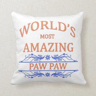 Amazing Paw Paw Throw Pillow