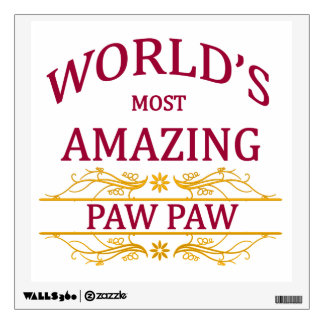 Amazing Paw Paw Wall Decal
