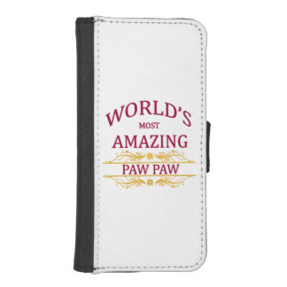 Amazing Paw Paw Wallet Phone Case For iPhone SE/5/5s