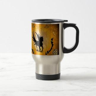 Amazing pegasus 15 oz stainless steel travel mug