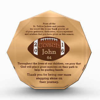 Amazing Personalized Football Coach Gifts Award