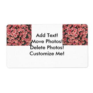 Amazing Pink Chrysanthemum Cluster Label