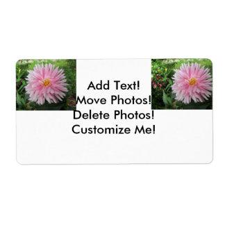 Amazing Pink Dahlia Flower Label