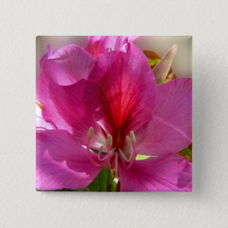 Amazing pink tree flower button