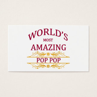 Amazing Pop Pop Business Card