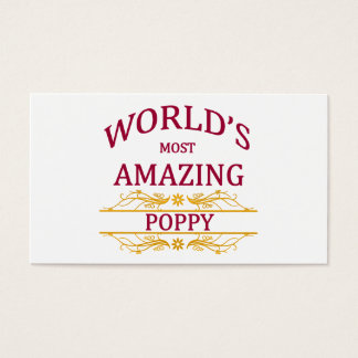 Amazing Poppy Business Card