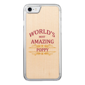 Amazing Poppy Carved iPhone 7 Case