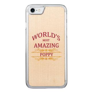 Amazing Poppy Carved iPhone 8/7 Case