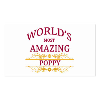 Amazing Poppy Double-Sided Standard Business Cards (Pack Of 100)