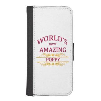 Amazing Poppy iPhone SE/5/5s Wallet Case