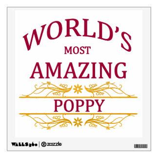 Amazing Poppy Wall Sticker