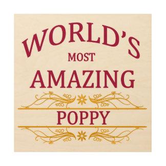 Amazing Poppy Wood Print