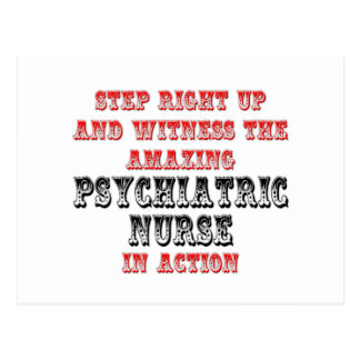 Amazing Psychiatric Nurse In Action Postcard