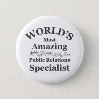 Amazing Public Relations Specialist Button