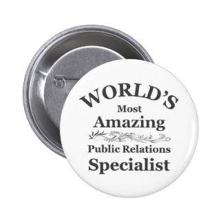 Amazing Public Relations Specialist Pinback Button