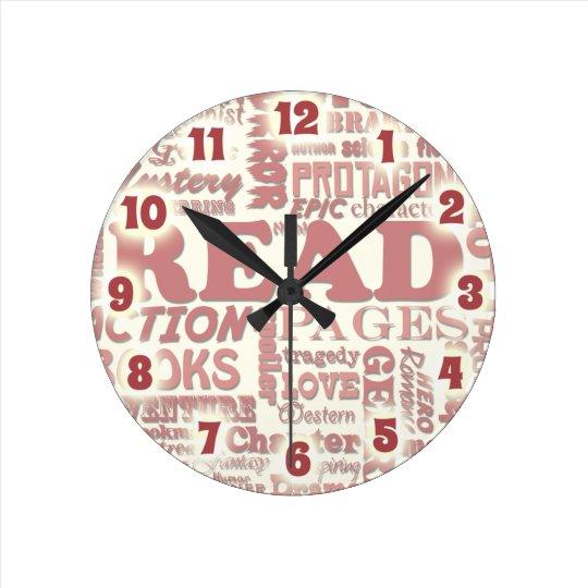 Amazing Reader Sayings Round Clock