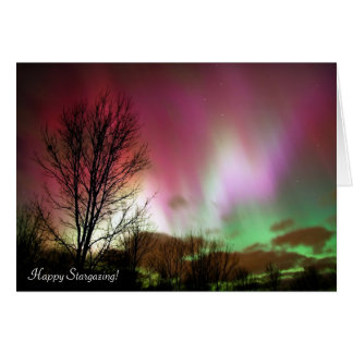 Amazing Red, Green and White Northern Lights Card