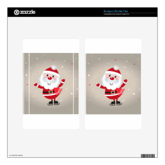 AMAZING RED SANTA EDITION KINDLE FIRE SKIN