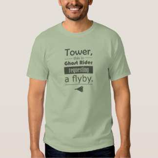 """Amazing """"Requesting flyby"""" F-14 t-shirt"""
